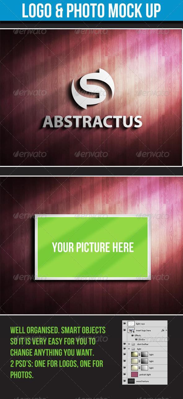Logo & Photo Mock-up - Logo Product Mock-Ups