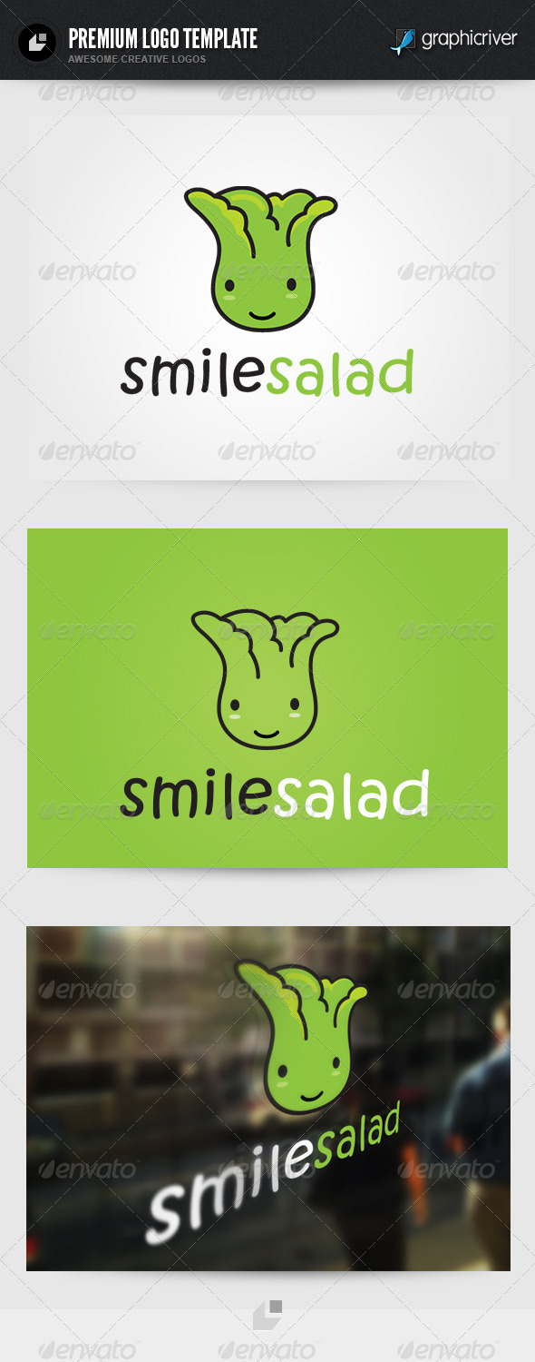 Smile Salad Logo - Food Logo Templates