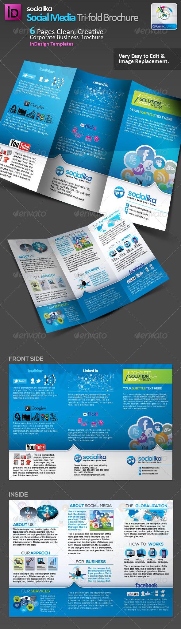 Social Media Tri-fold Brochure v.2 - Corporate Brochures