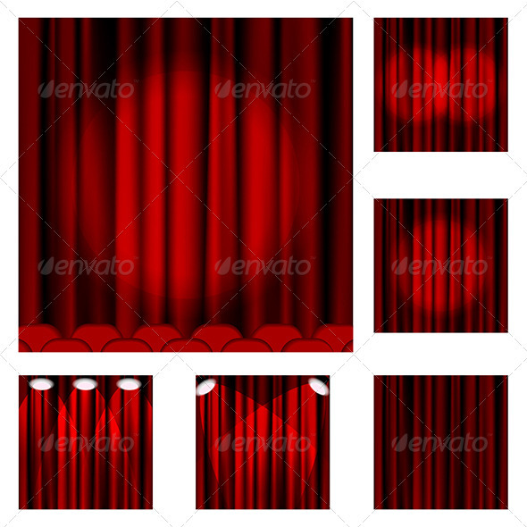 Red curtains - Miscellaneous Vectors