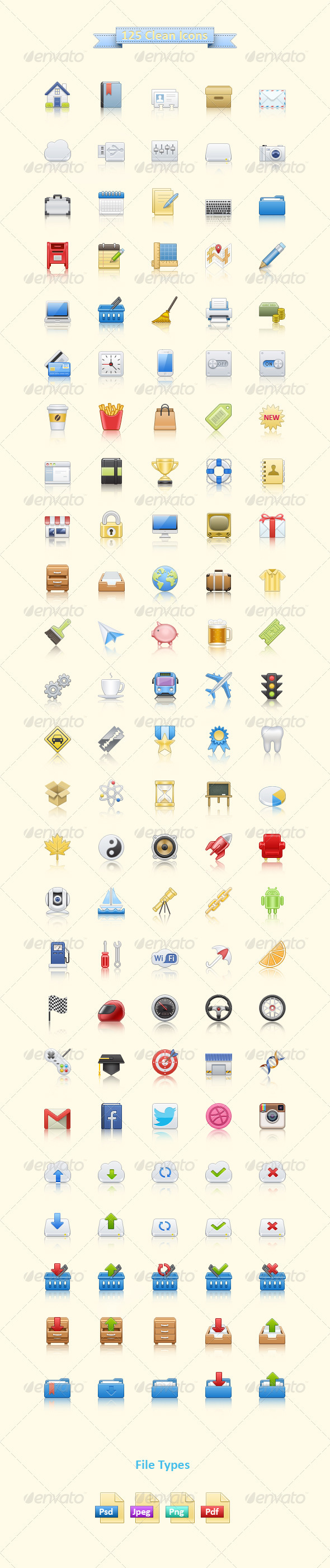 125 Clean Icons - Web Icons