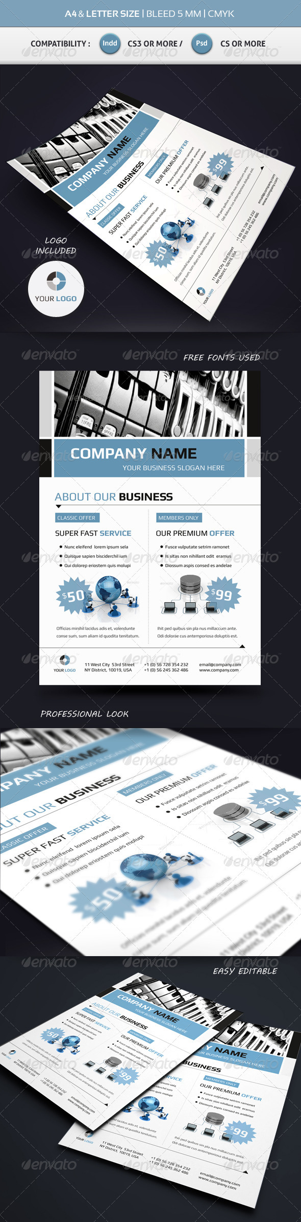 Corporate Commerce Flyer Template A4 & Letter - Corporate Flyers