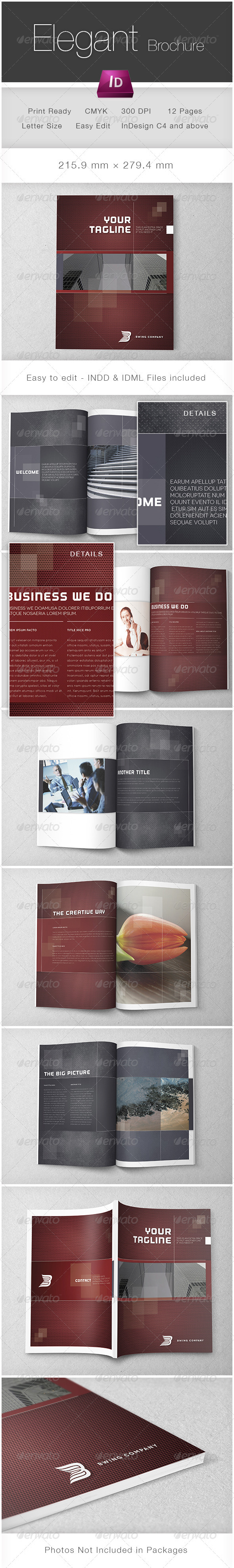 Elegant Brochure Template - Corporate Brochures