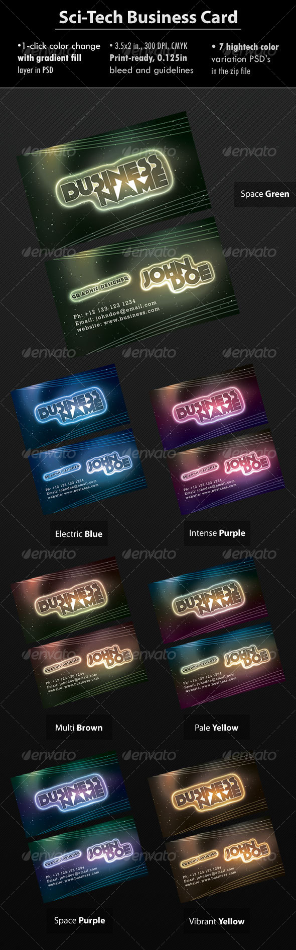 Sci-Tech Business Card by Raincutter | GraphicRiver