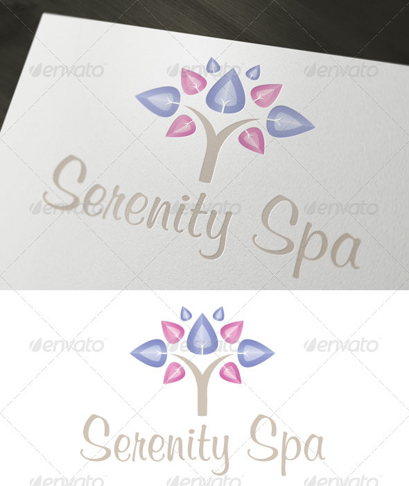 Serenity Spa - Objects Logo Templates