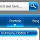 Glassique Bleu Web Graphics Kit - GraphicRiver Item for Sale