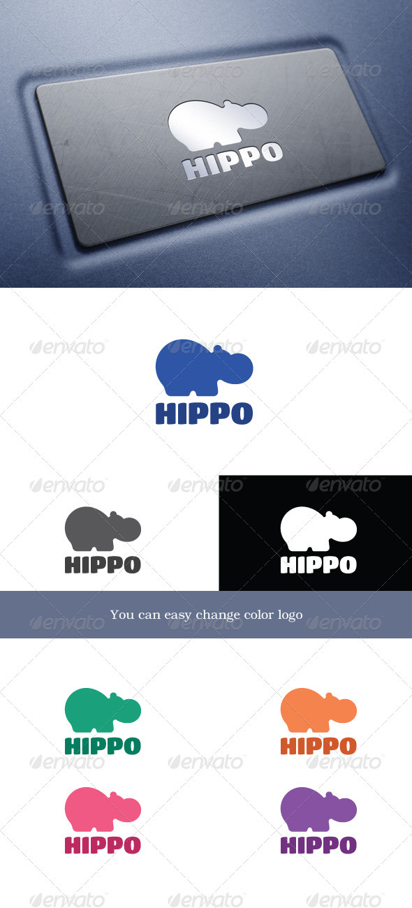 Hippo - Animals Logo Templates