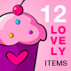 Valentine Lovely Set 01 - GraphicRiver Item for Sale