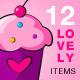 Valentine Lovely Set 01 - GraphicRiver Item for Sale