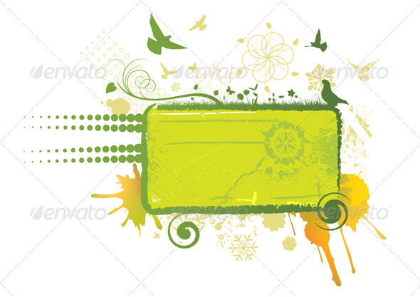 Green Abstract Board - Backgrounds Decorative