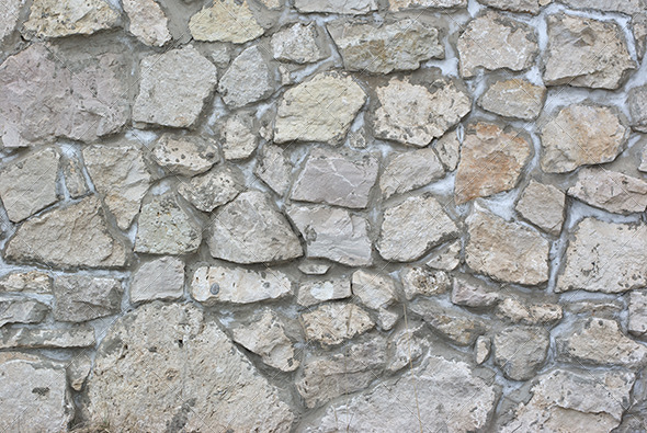 Background from High Detailed Fragment Stone Wall - Stone Textures
