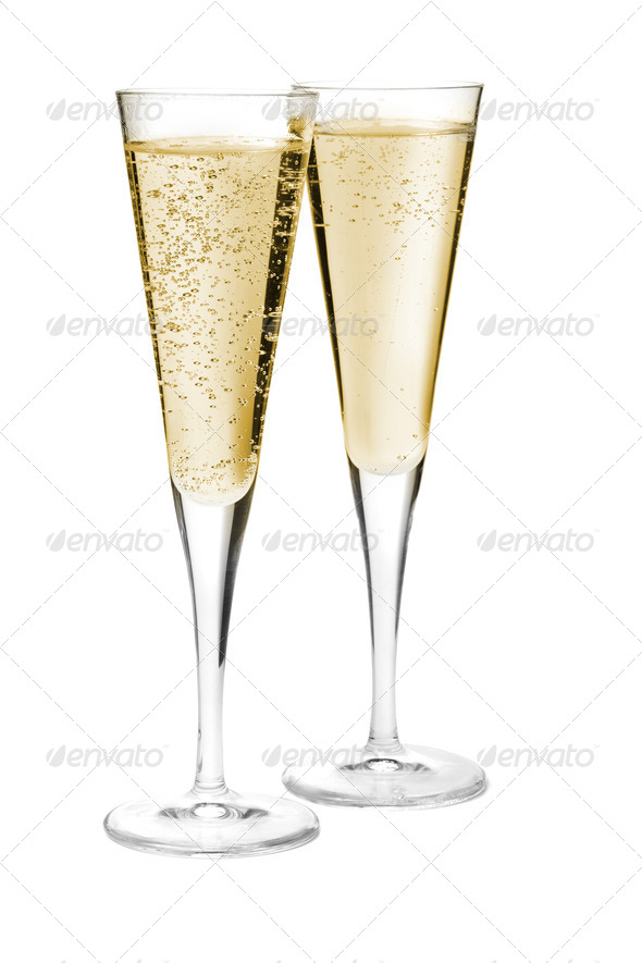 Two champagne glasses - Stock Photo - Images