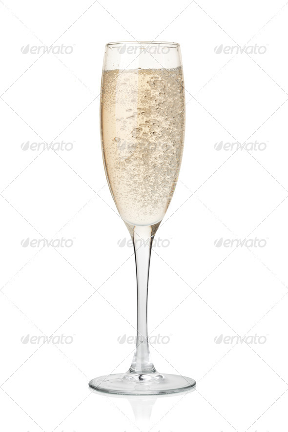 Champagne in glass - Stock Photo - Images