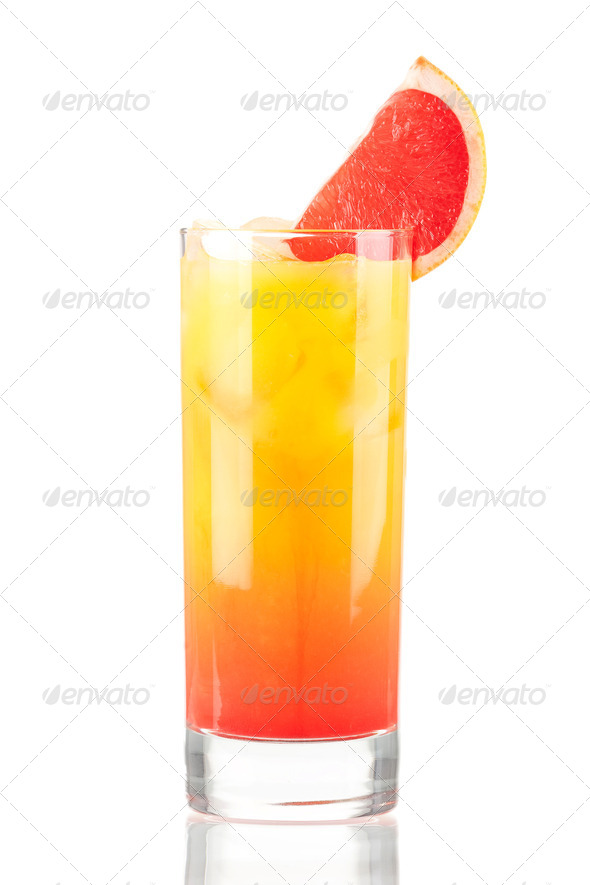 Tequila sunrise alcohol cocktail - Stock Photo - Images