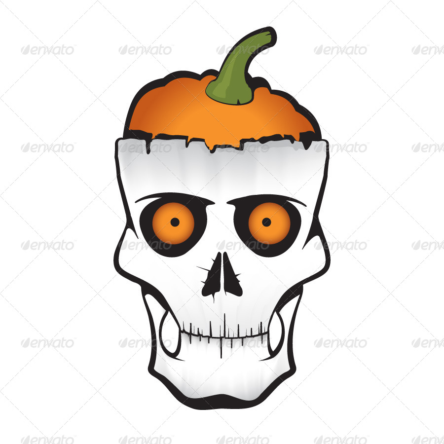 Halloween Pumpkin Skull By 3angle Graphicriver