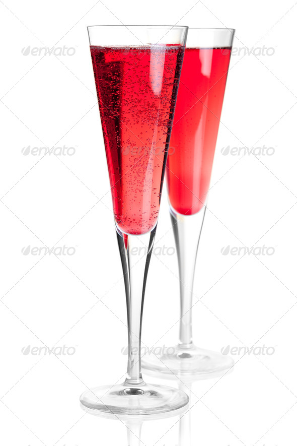 Kir royal alcohol cocktail - Stock Photo - Images