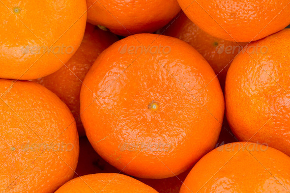 Ripe tangerine closeup background - Stock Photo - Images