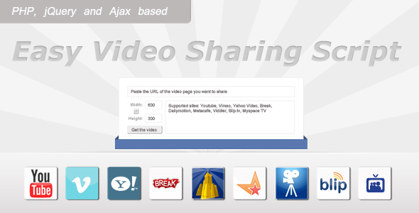Easy Video Sharing Script nulled free download