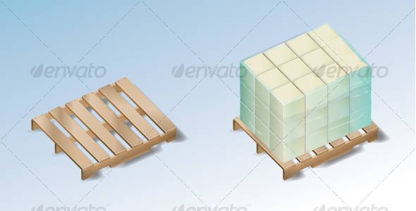 Pallet with Boxes - Man-made Objects Objects