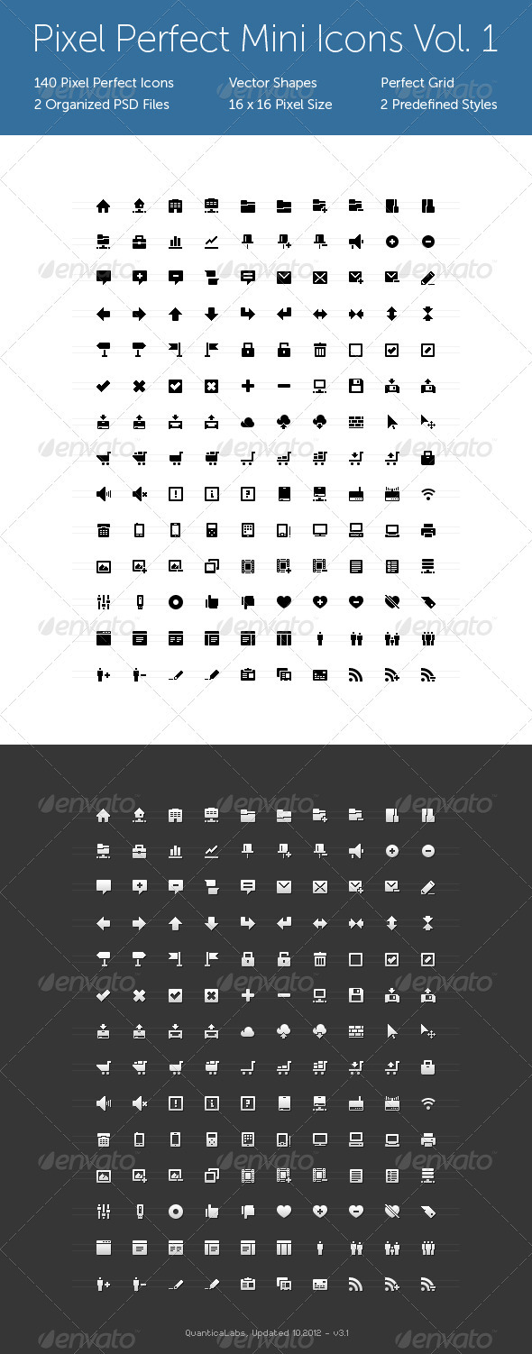 Pixel Perfect Mini Icons Vol. 1 - Web Icons