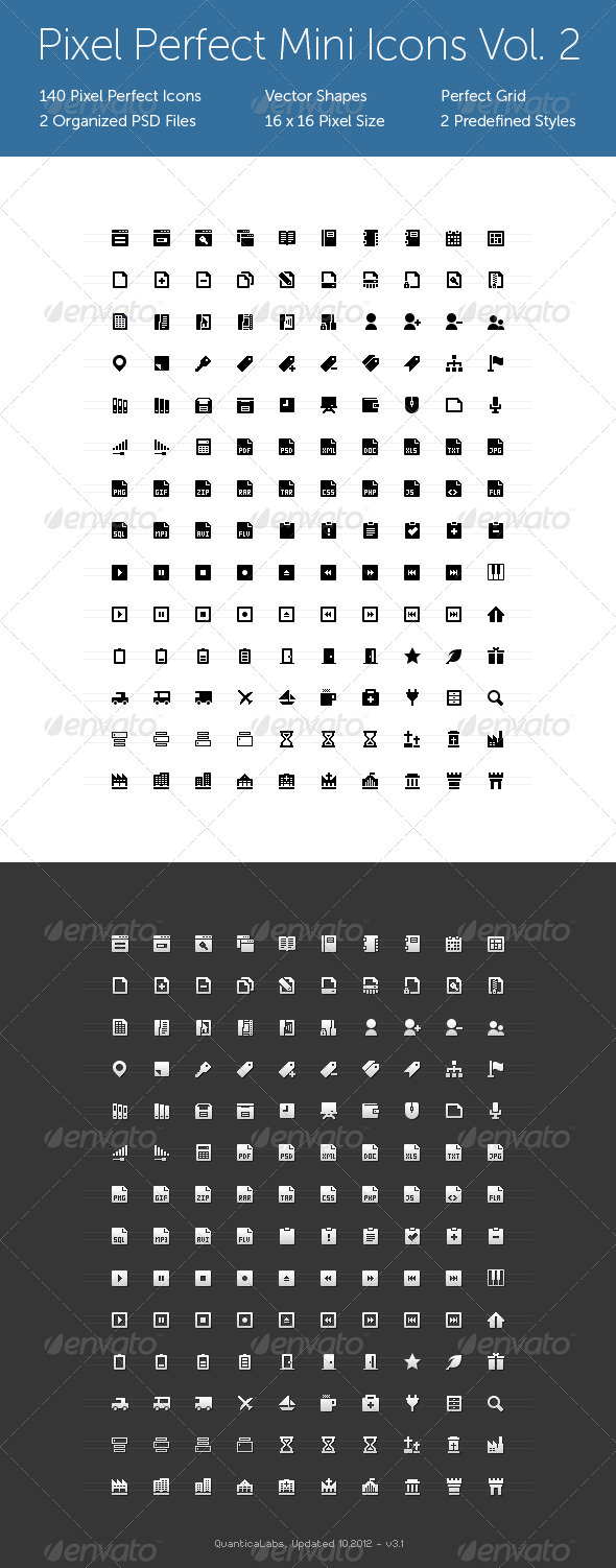 Pixel Perfect Mini Icons Vol. 2 - Web Icons