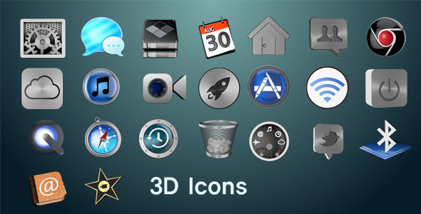 3D Icons - 3DOcean Item for Sale