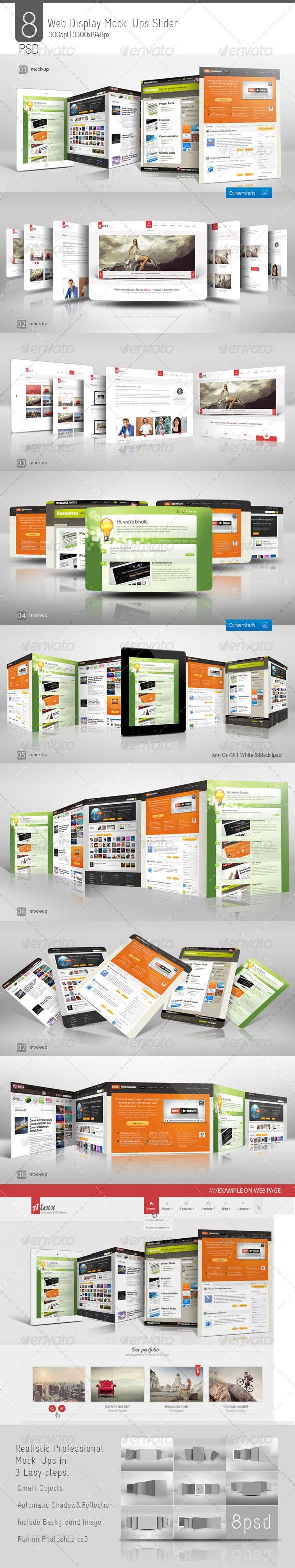 Web Display Mock-Ups Slider - Multiple Displays