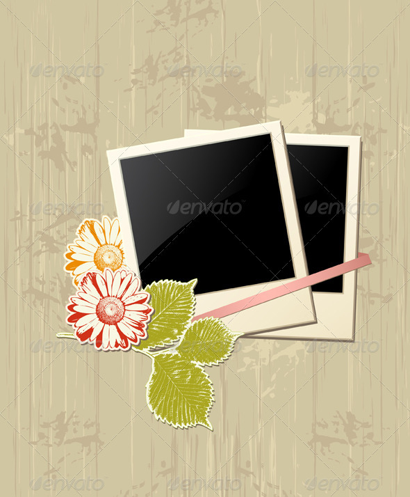 Photo Frame with Flowers - Backgrounds Decorative