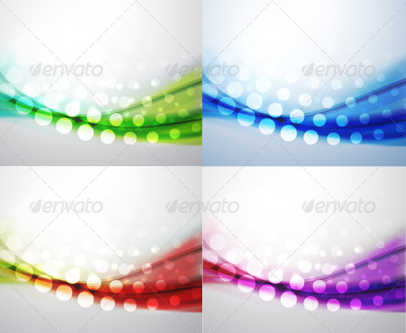 Colorful Dotted Wavy Backgrounds - Backgrounds Decorative