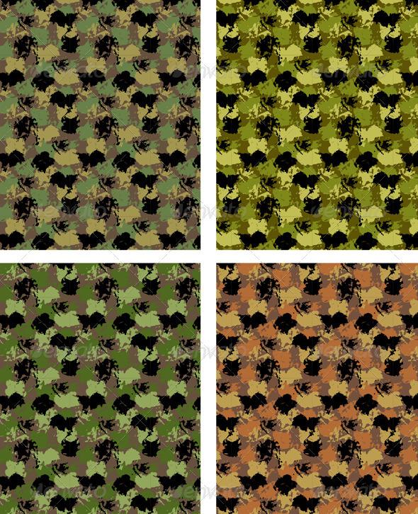 Camouflage Seamless Pattern - Patterns Decorative