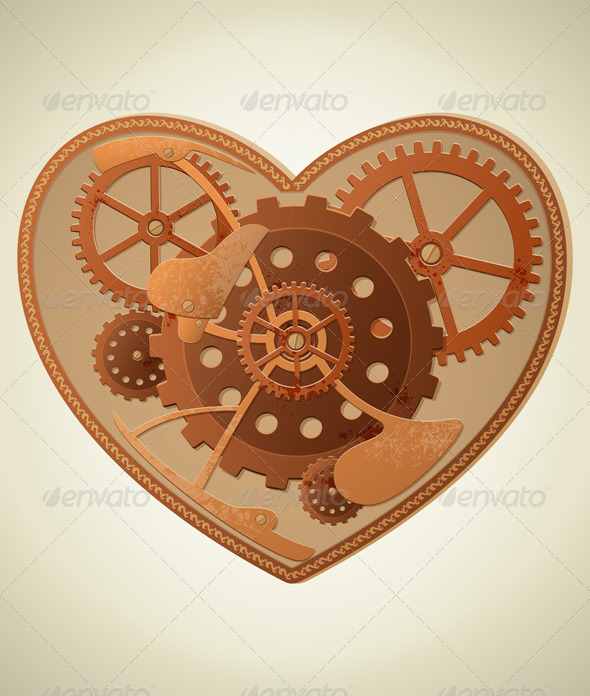 Steampunk Heart - Valentines Seasons/Holidays