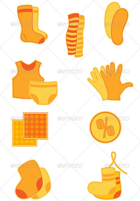 Clothes Icons - Miscellaneous Vectors