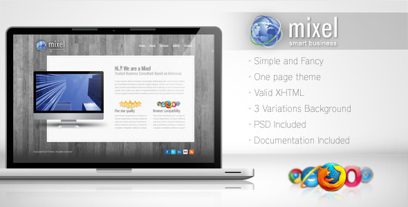 Free Download Mixel - Simple One Page Template Nulled Latest Version