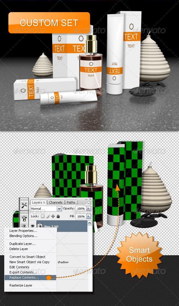 Cosmetics Custom Set - Objects 3D Renders