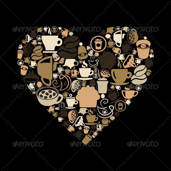 Coffee heart - Valentines Seasons/Holidays