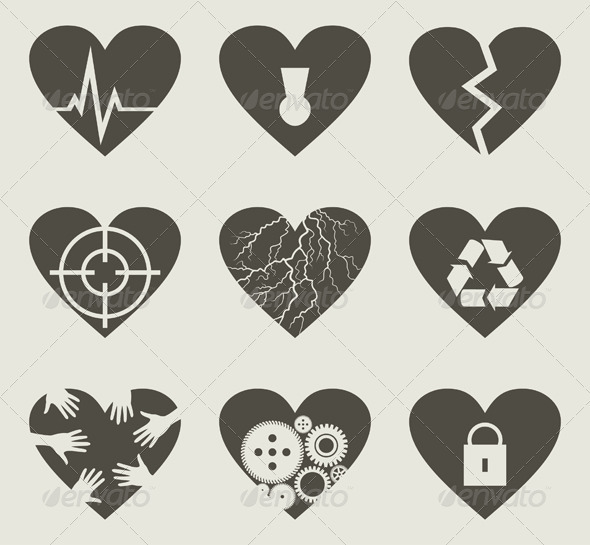 Collection heart2 - Miscellaneous Vectors