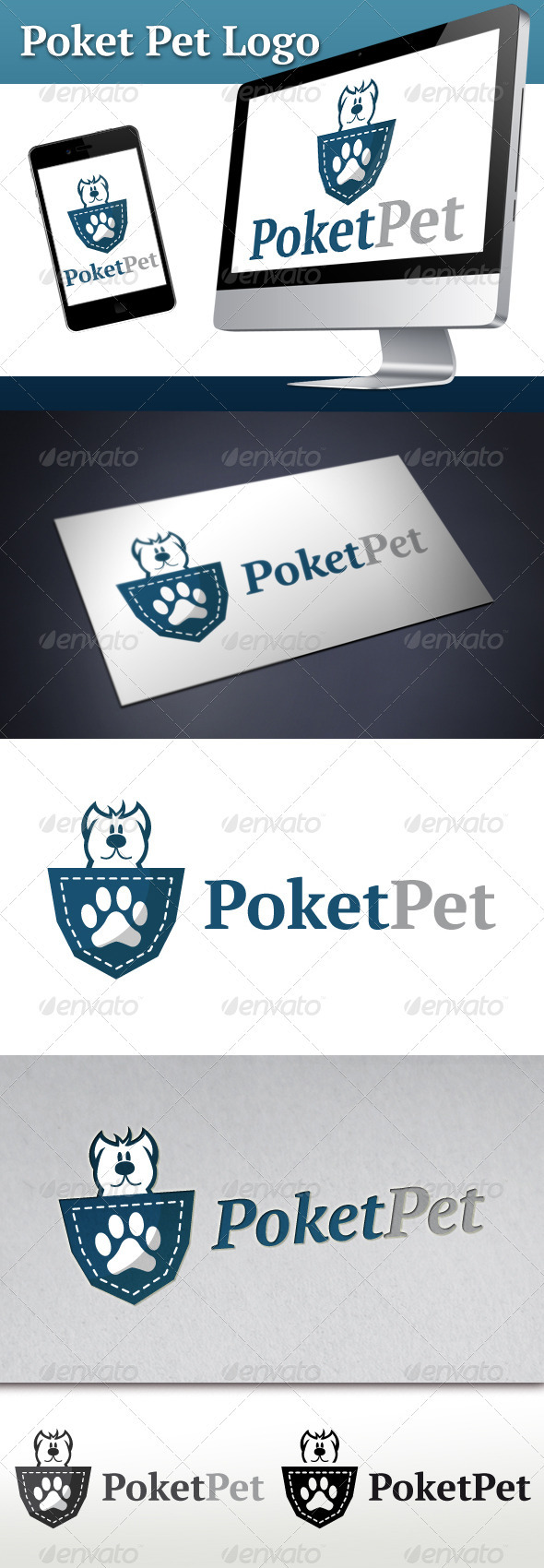 Poket Pet Logo - Animals Logo Templates