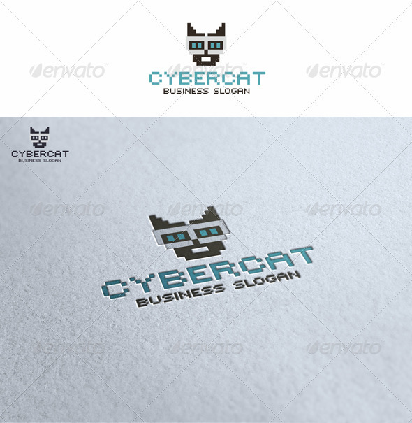 Cybercat - Animals Logo Templates