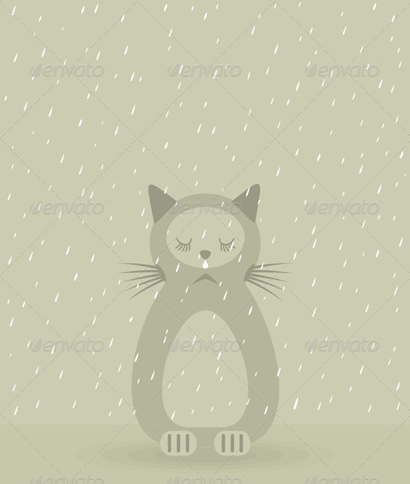 Sad cat - Animals Characters