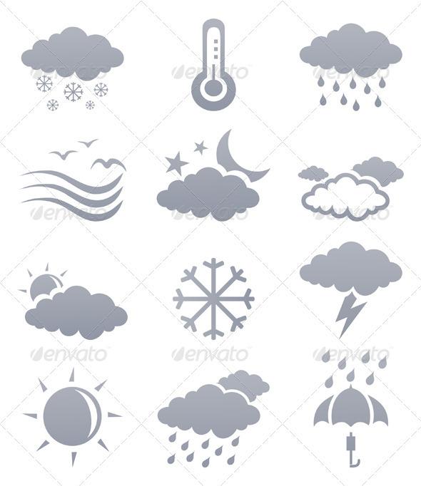 Weather icons3 - Miscellaneous Vectors