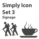 Simply Icon Set 3 (Signage) - GraphicRiver Item for Sale