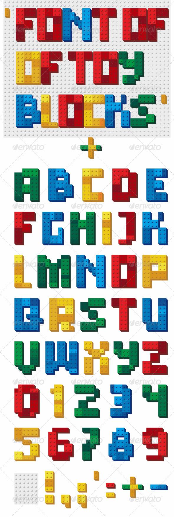 Font of Toy Blocks - Miscellaneous Vectors