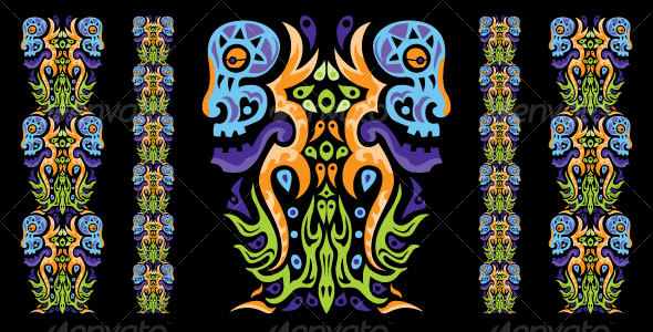 Psychedelic ornament element by Andrei Verner