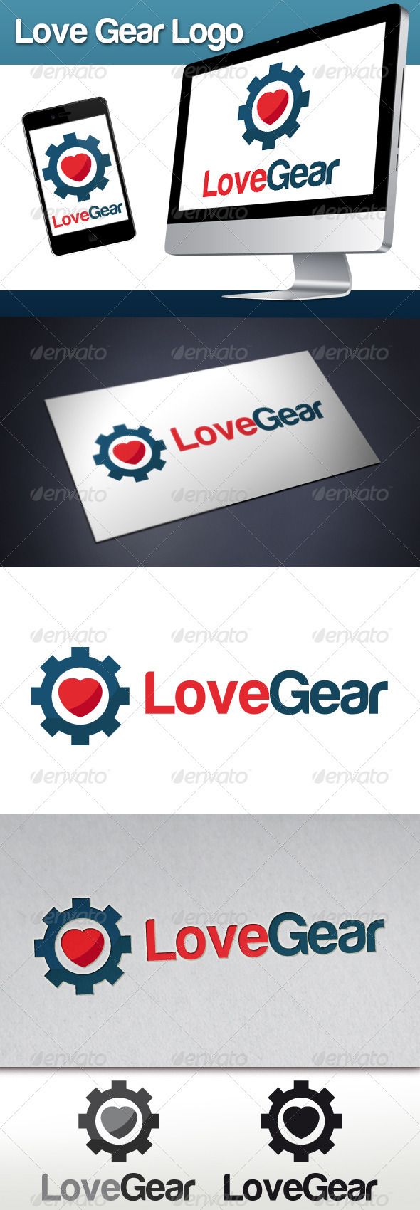 Love Gear Logo - Objects Logo Templates