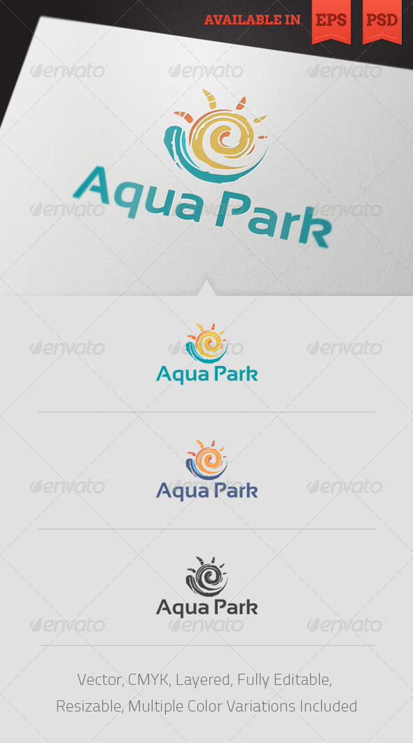 Aqua Park Logo Template - Nature Logo Templates