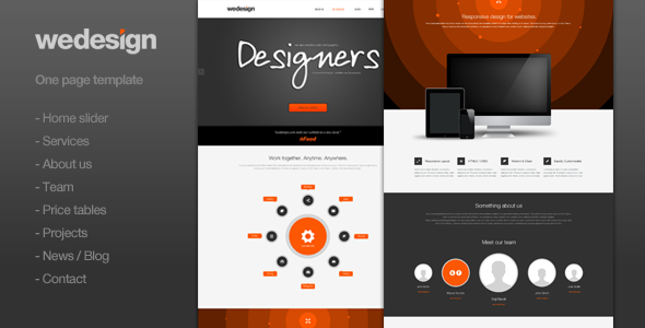 We Design – One page portfolio