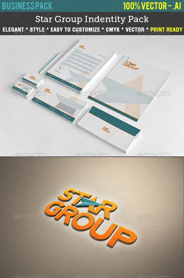 Star Group Indentity Pack - Stationery Print Templates