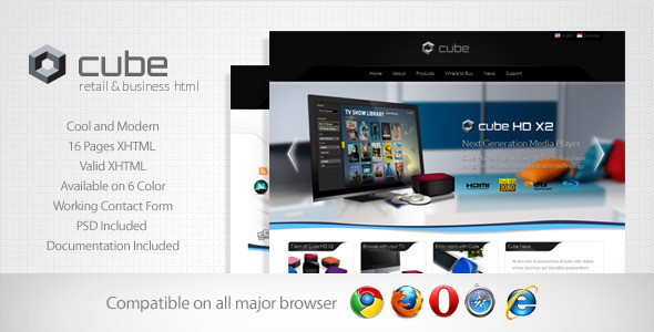Cube – Retail and Business Template
