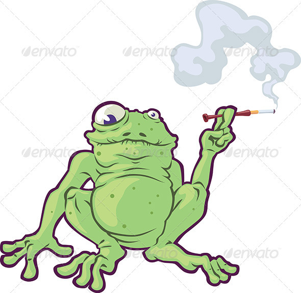 Smoking Frog - Animals Characters