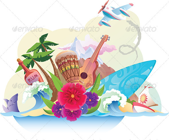 Tropical Island - Travel Conceptual